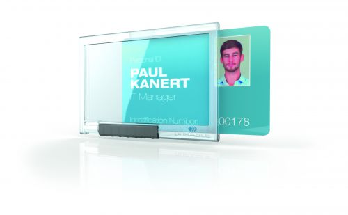 Durable Mono Pushbox Security Pass Holder Transparent (Pack of 10) 892219