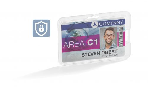 Durable Card Holder Permanent Transparent (Pack of 10) 8928 - DB99439