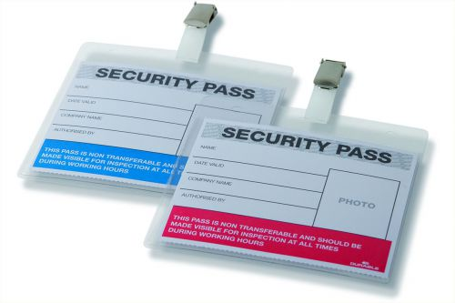 Durable Colour Coded Security Pass Red/Blue (Pack of 25) 999108004