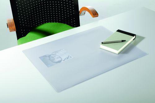 Durable DURAGLAS Desk Mat 40x53cm Transparent Pack of 5