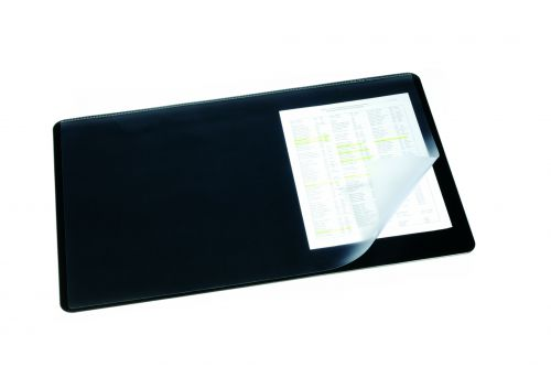 Durable Desk Mat with Overlay 40x53cm Transparent