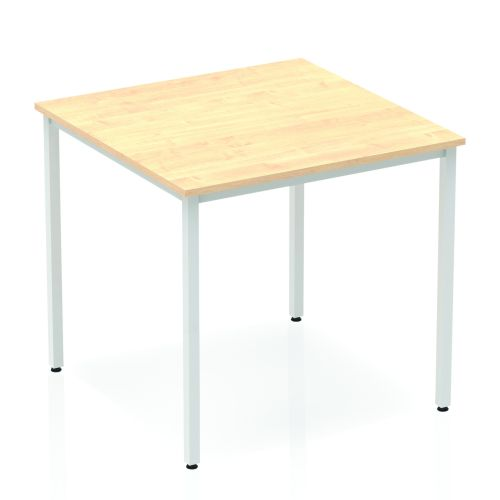 Impulse Straight Table 800 Maple Box Frame Leg Silver