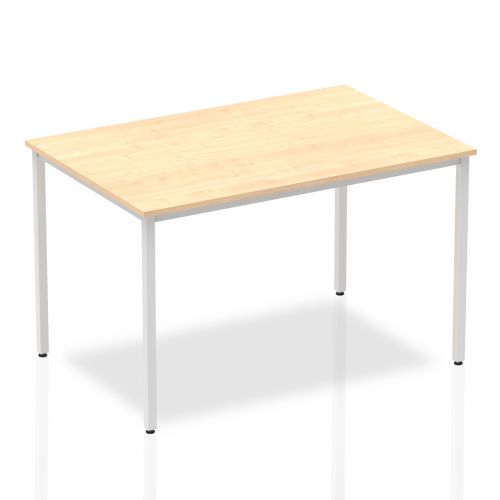 Impulse Straight Table 1200 Maple Box Frame Leg Silver