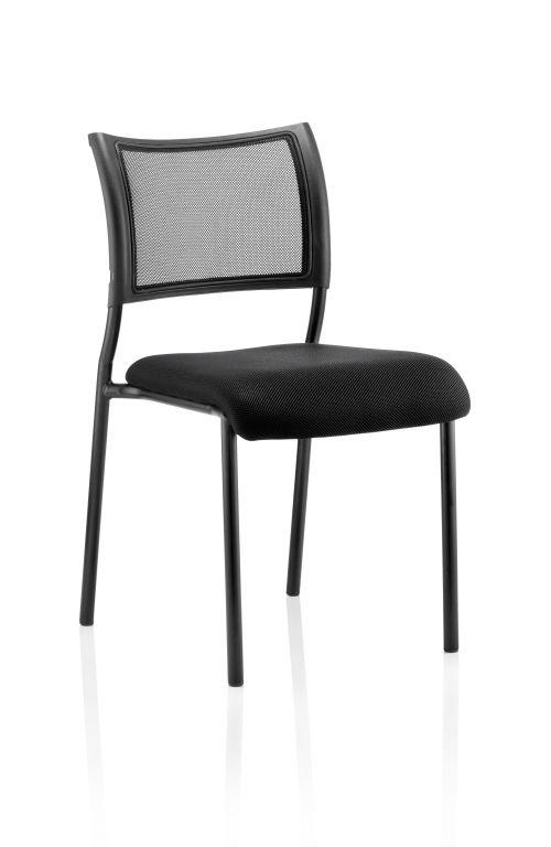 Brunswick Visitor Chair Black Fabric Black Frame
