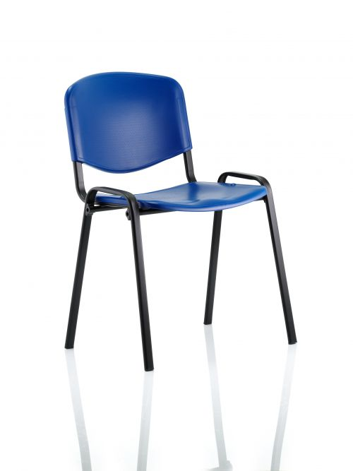 ISO Stacking Chair Blue Poly Black Frame BR000058
