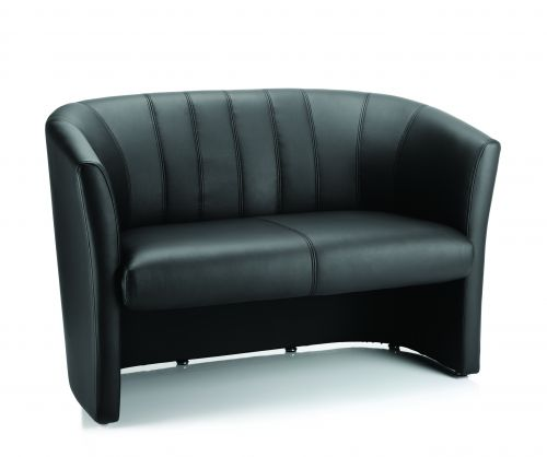 Neo Twin Tub Black Leather
