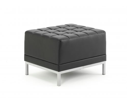 Infinity Modular Cube Chair Black Bonded Leather