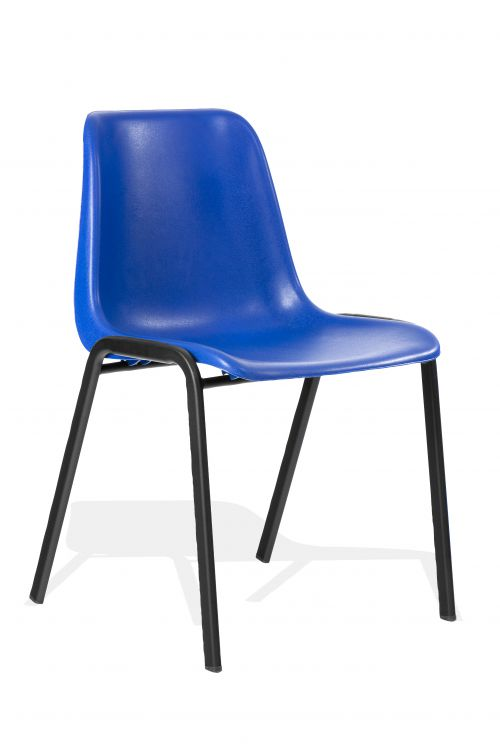 Polly Stacking Visitor Chair Blue Polypropylene