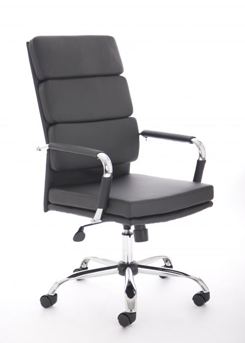 Advocate Executive Chair Black Soft Bonded Leather With Arms BR000204