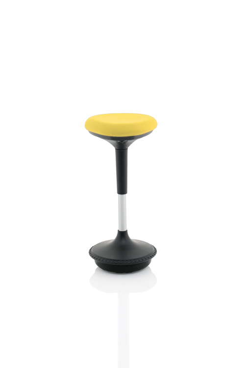 Sitall Deluxe Visitor Stool Mustard Fabric Seat