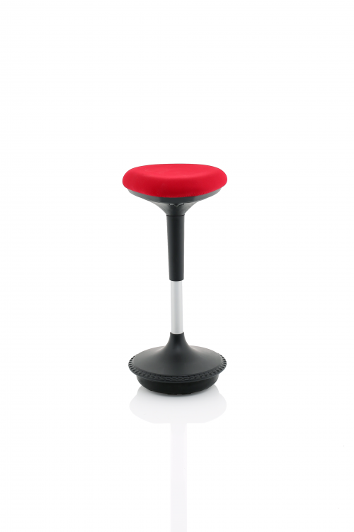 Sitall Deluxe Visitor Stool Red Fabric Seat