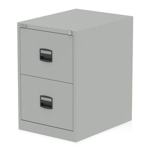Qube by Bisley 2 Drawer Filing Cabinet Goose Grey