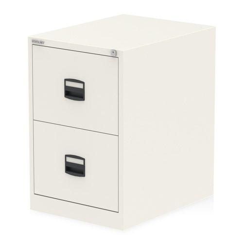Qube by Bisley 2 Drawer Filing Cabinet Chalk White