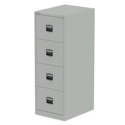 Qube by Bisley 4 Drawer Filing Cabinet Goose Grey