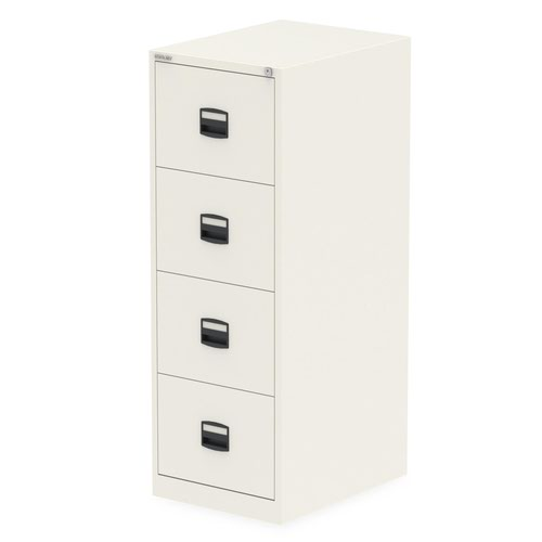 Qube by Bisley 4 Drawer Filing Cabinet Chalk White