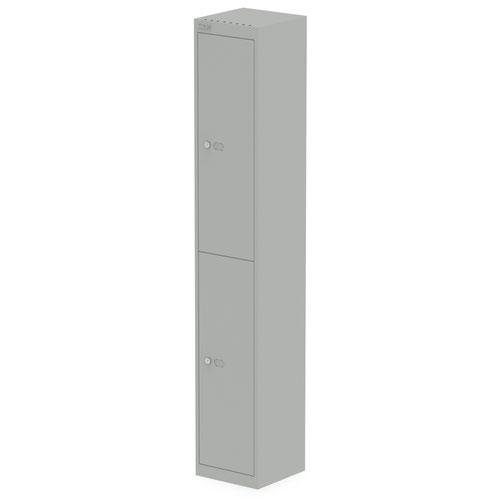 Qube by Bisley Locker 2 Door 1800mm High 305 Deep Goose Grey