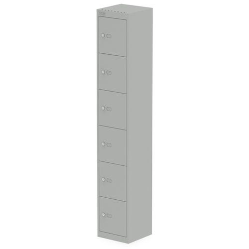 Qube by Bisley Locker 6 Door 1800mm High 305 Deep Goose Grey