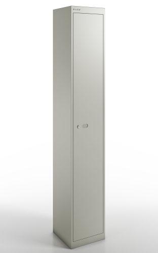 Qube by Bisley  Locker 1 Door 1800mm High 457 Deep Goose Grey