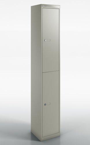 Qube by Bisley Locker 2 Door 1800mm High 457 Deep Goose Grey