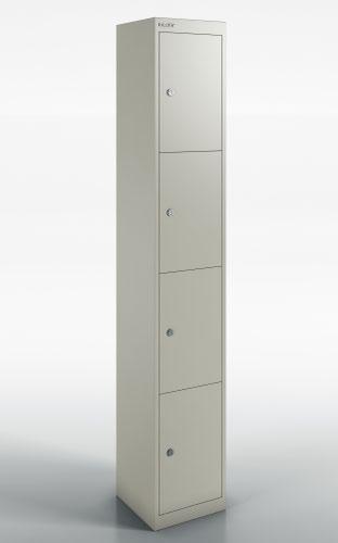 Qube by Bisley Locker 4 Door 1800mm High 457 Deep Goose Grey