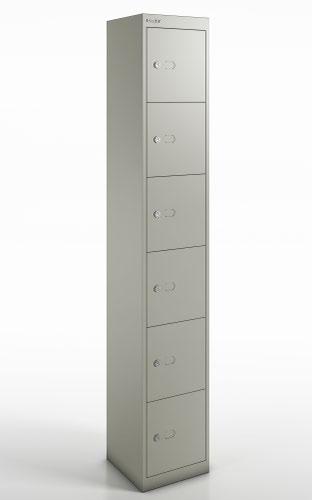Qube by Bisley Locker 6 Door 1800mm High 457 Deep Goose Grey