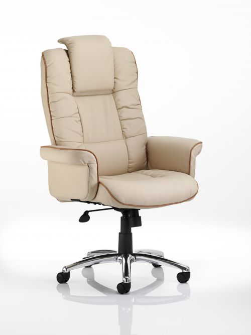 Chelsea Executive Chair Cream Soft Bonded Leather