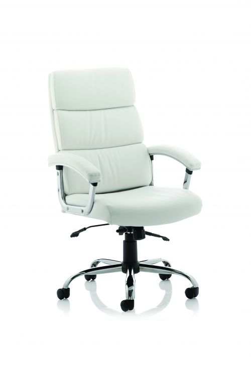 Desire High Executive Chair White With Arms