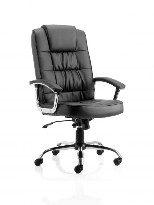 Moore Deluxe Executive Leather Chair Black with Arms EX000045