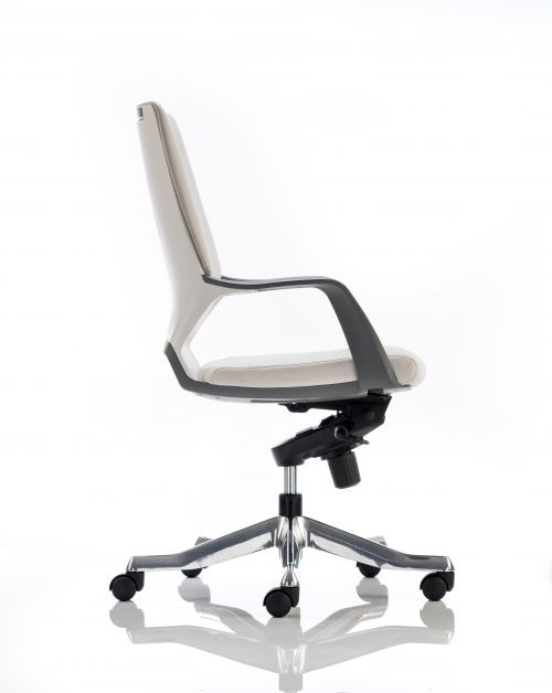Xenon Executive White Shell Medium Back Leather With Arms