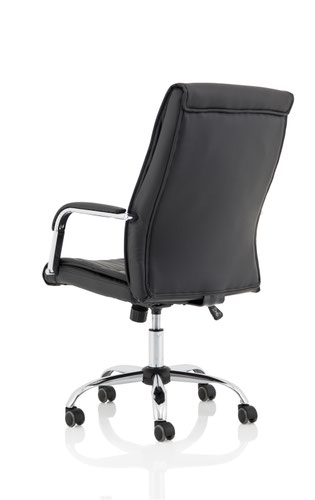Carter Black Luxury Faux Leather Chair With Arms  | County Office Supplies