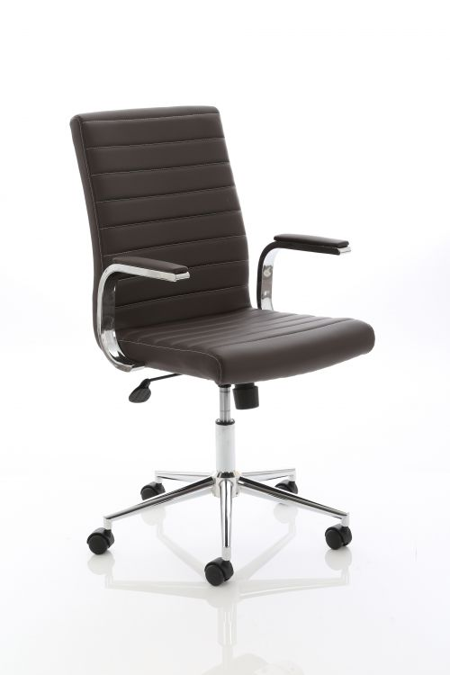 Ezra Executive Brown Leather Chair