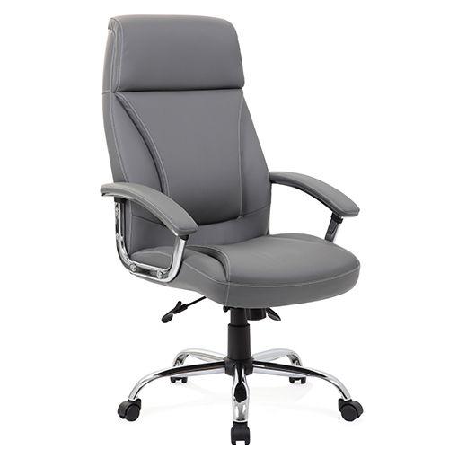 Kansas Grey Faux Leather Chair
