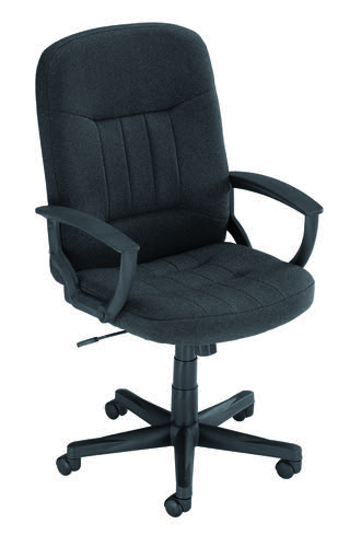 Hague Executive Fabric Chair Charcoal with Fixed Arms EX000201
