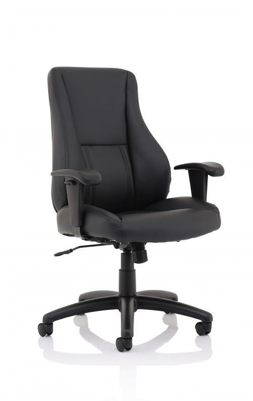 Winsor Black Leather Chair No Headrest EX000212
