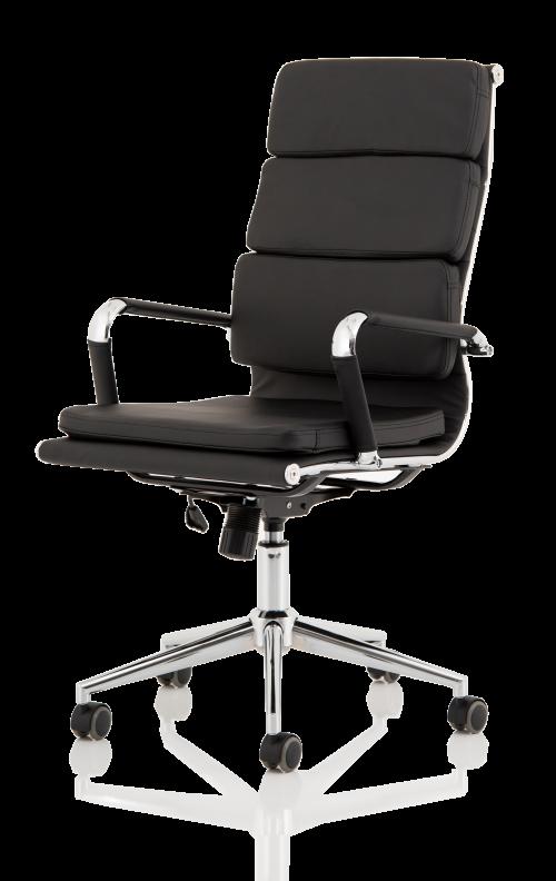 Hawkes Black PU Chrome Frame Executive Chair