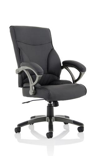 Kansas Faux Leather Chair Black EX000223