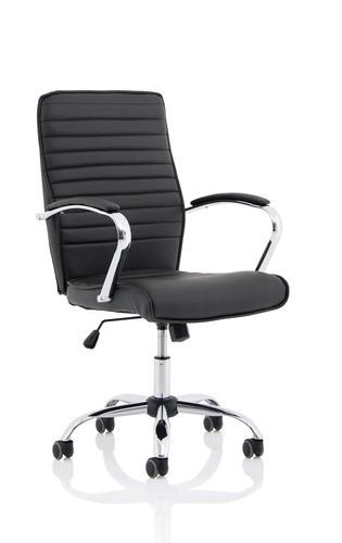 Abbey Black Leather Armchair