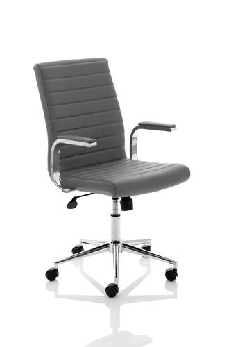 Ezra Executive Grey Leather Chair