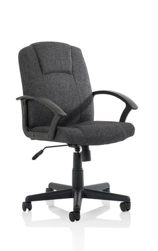 Bella Executive Managers Chair Charcoal Fabric EX000248