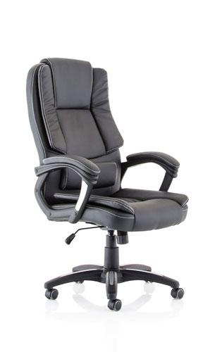Dakota High Back Black Leather Look Chair