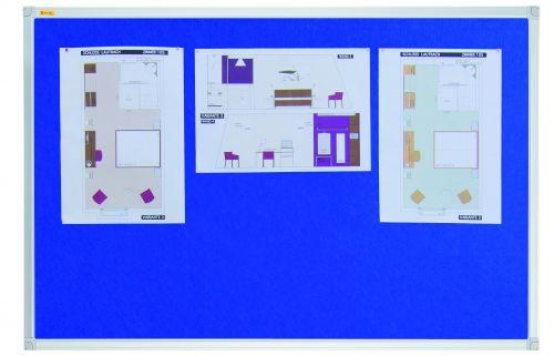 Felt Pin Board X-tra!Line® 120x90cm Blue