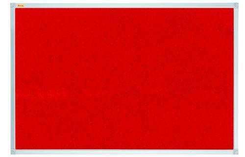 Felt Pin Board X-tra!Line® 120x120cm Red