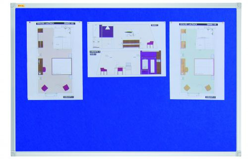 Felt Pin Board X-tra!Line® 180x120cm Blue