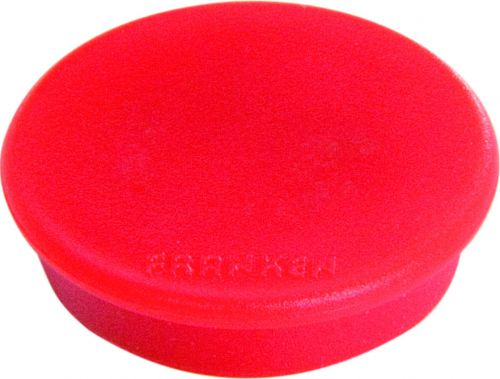 Tacking Magnet Size 24mm Adhesive Force 300g Red 10 Pieces
