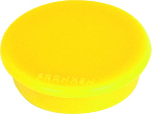 Tacking Magnet Size 32mm Adhesive Force: 800g Yellow 10 Pieces