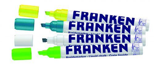 Chalk Marker Neon Line Width 2-5mm 4 Pieces Various Colours