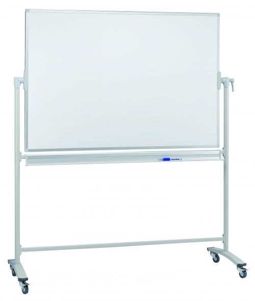 Revolving Whiteboard On Mobile Stand 200 x 100cm Lacquered Steel