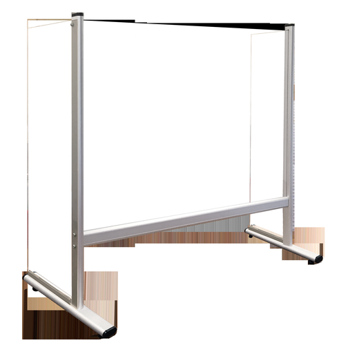 Counter and Desk Protection Screen with side panels, acrylic glass, 80 x 65 cm