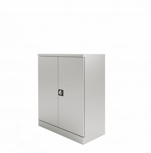 Graviti Plus Contract Stationery 1000mm 2-Door Cupboard Goose Grey No Shelves
