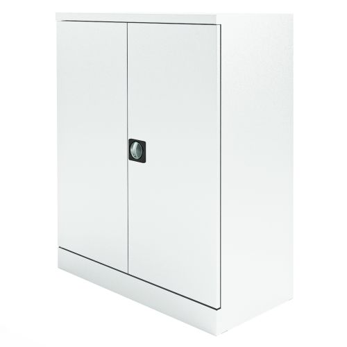 Graviti Plus Contract Stationery 1000mm 2-Door Cupboard Chalky White No Shelves